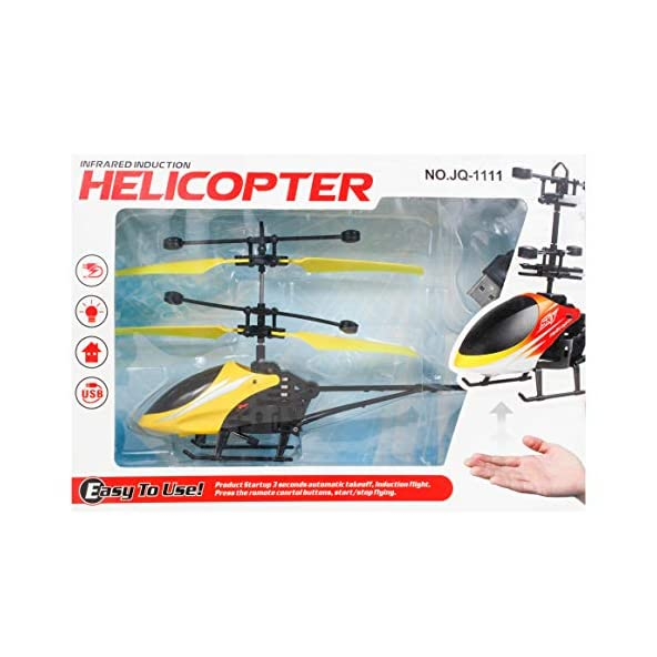 Aone Hand Induction Control USB Charger Flying Infrared Sensor Aircraft Flashing Light Helicopter Without Remote :Multicolour