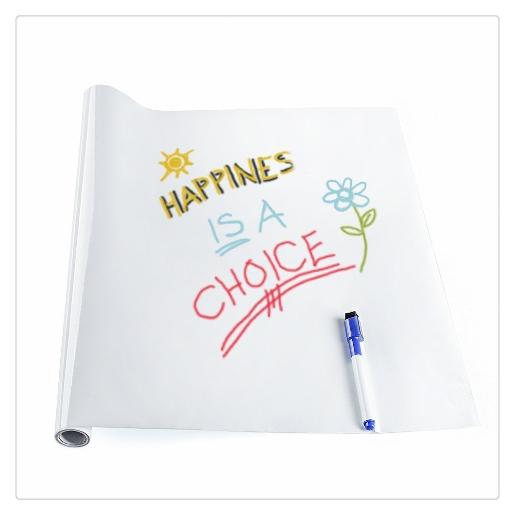 Self-Adhesive Wall Sticker Wall Paper Sticky Vinyl Chalkboard Decal Erase Message Board Whiteboard for Home Office Decor, 79 x 18, Removable, Reusable, Erasable 79 x 18 Mptduck