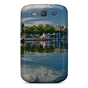 Galaxy S3 Hard Back With Bumper Silicone Gel Tpu Case Cover Coastal Town Of Tobermory Scotl