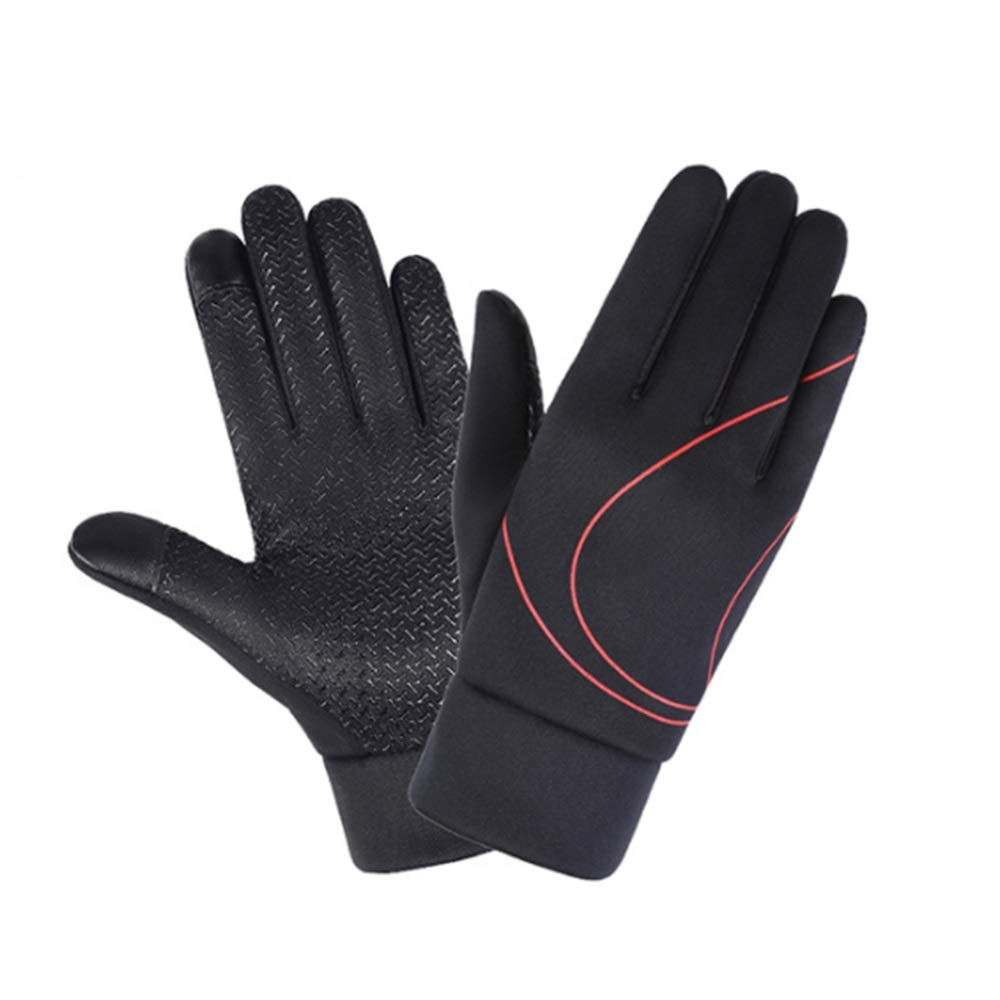 Autumn and Winter Plus Velvet Thick Touch Screen Gloves Outdoor Riding Anti-Skid Sports Running Leisure LIUSHUAISHUAI