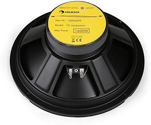 Auna Alto Auna CS-Comp-10 Set Auto Altoparlante impianto audio completo amplificatore 6400W, subwoofer, 2 crossover a 3 vie, cavi e kit di montaggio inclusi
