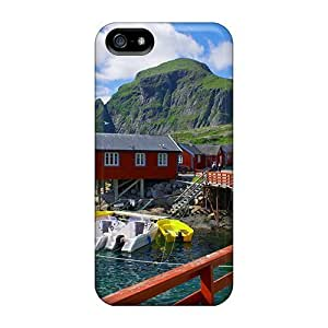 New Fashion Premium Tpu Case Cover For Iphone 5/5s - Peaceful Pier