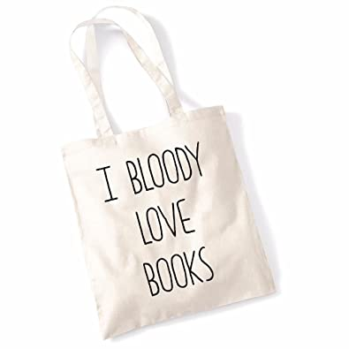 I Bloody Love Books Funny Mothers Day Birthday Beech Tote Bag