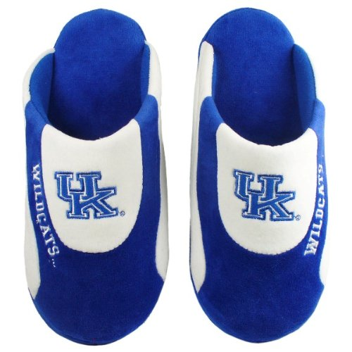 Happy Feet Mens and Womens Officially Licensed NCAA College Low Pro Slippers Kentucky Wildcats lT91Minma