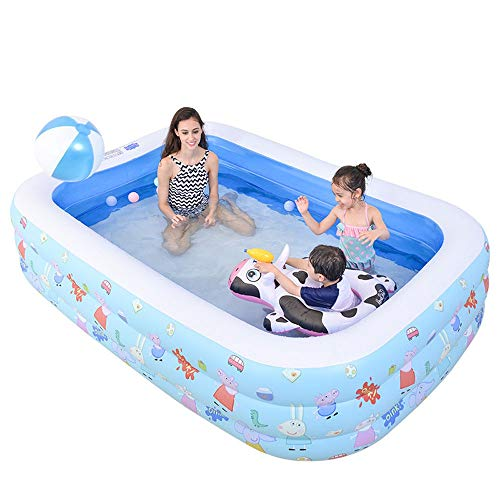 Szblk Children's Pool Insulation Inflatable Pool Children's Pool Baby Play Pool Cute Cartoon (61.02in42.51in20.47in)