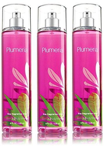 (Lot of 3 Bath & Body Works Fine Fragrance Mist Plumeria)