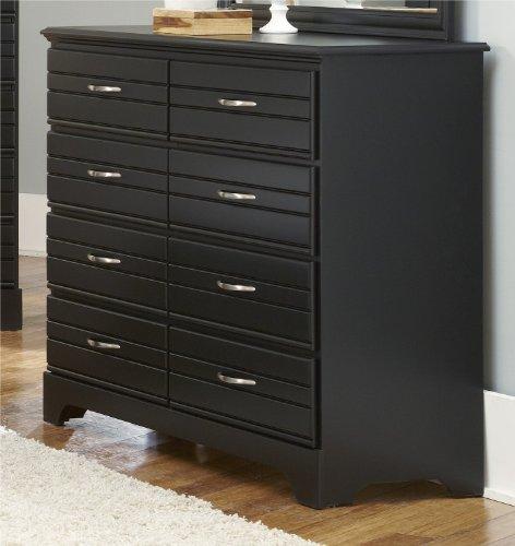 Carolina Furniture Works 8-Drawer Tall Dresser, Black