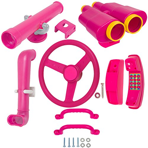 Swing Set Stuff Deluxe Accessories Kit (Pink) with SSS Logo Sticker
