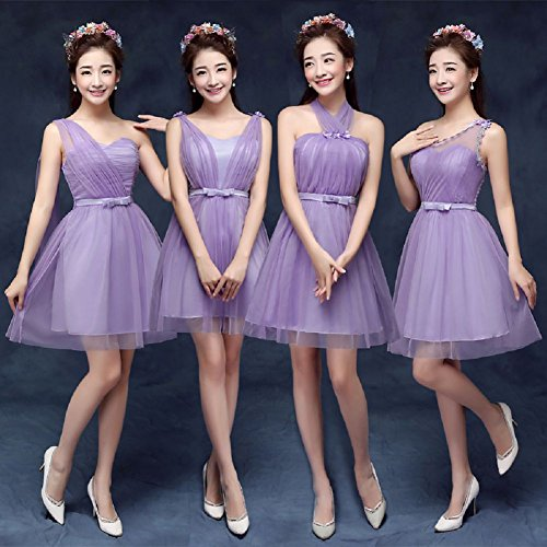 Cóctel Boda Mini emily Fiesta Púrpura b Beauty Dama De purple XIHnqfwS