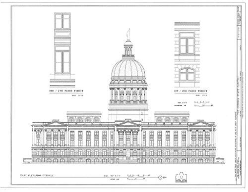 Historic Pictoric Blueprint Diagram HABS GA,61-ATLA,3- (Sheet 20 of 52) - Georgia State Capitol, Capitol Square, Atlanta, Fulton County, GA 14in x 11in