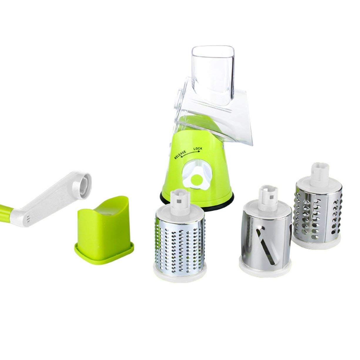 Multifunctional Vegetable Shredder,Multifunctional Vegetable Shredder Hand Drum Rotary Grater Shred Potato Slicer Roller Shape Stainless Steel Crank Handle