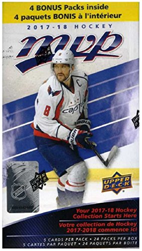 2017/18 Upper Deck MVP NHL Hockey EXCLUSIVE HUGE Factory Sealed Blaster Box with 24 Packs & 120 Cards PLUS BONUS Connor McDavid ROOKIE! Box Features New Rookies & Inserts! Look for Autographs! WOWZZER