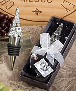 From Paris with Love Collection Eiffel Tower wine bottle stopper favors (Set of 72)