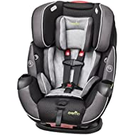 Evenflo Symphony Elite All-In-One Convertible Car Seat, 5-Point Infinite Slide Harness, Easy to Install, Forward / Rear Facing, Booster Seat, 110-lb Capacity, Multiple-Position Recline, Paramount Gray