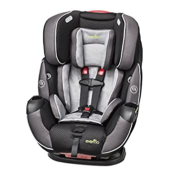 Image of Evenflo Symphony Elite All-In-One Convertible Car Seat, 5-Point Infinite Slide Harness, Easy to Install, Forward / Rear Facing, Booster Seat, 110-lb Capacity, Multiple-Position Recline, Paramount Gray Baby