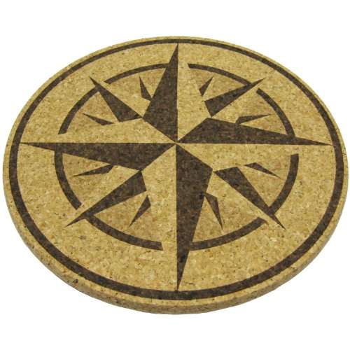 Xl Coasters Nautical Compass Rose 9 Inch Oversized