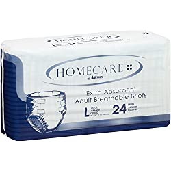 Attends Care Briefs with Odor-Shield for Adult Incontinence Care, Large, Unisex , 72 Count