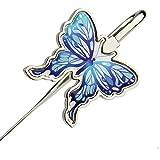Best-mall Creative Metal Bookmark clip Butterfly book mark,Best Gift For Grilfriend,Classmate,Teacher (Blue)