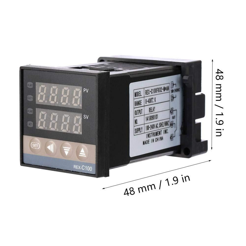 AN Termostato digitale PID Termostato uscita rel/è Termostato AC 250V Interruttore di controllo della temperatura Regolatore di temperatura REX-C100 REX-C100FK02-M