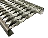 "3142014-24 Grip Strut Channel 14 Gauge Carbon Steel 4-Diamond Plank Safety Grating, 24"" Length x 9-1/2"" Width x 2"" Depth: more info"