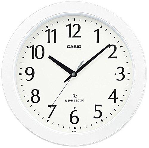 カシオ アナログ電波掛時計 夜見えライト 秒針停止機能付 IQ-900FLJ-7JF B0194SGEI0