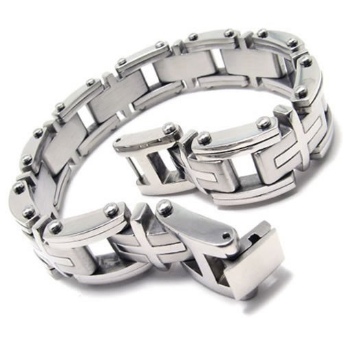 KONOV Jewelry Heavy Stainless Bracelet