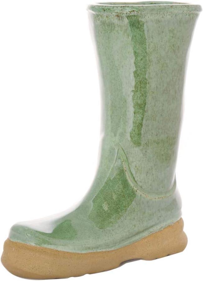 Dibor Grand Porte-Parapluie en Forme de Botte en c/éramique Vert