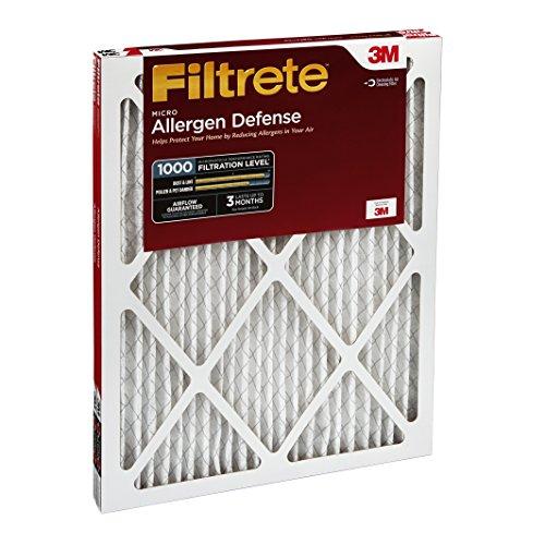 051141314556 - Filtrete Micro Allergen Defense AC Furnace Air Filter, MPR 1000, 16 x 25 x 1-Inches, 2-Pack carousel main 2
