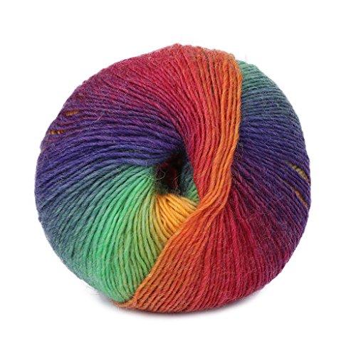 (HittecH Pure Color Chunky Hand-woven Super Soft Warm Cashmere Knitting Wool Yarn(purple dream))