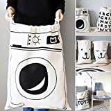 Ohohe2525 Cartoon Storage Bags Drawstring Backpack Children Room Organizer for Toy and Baby Clothing Kids Laundry Bag Cosmetic Pouch
