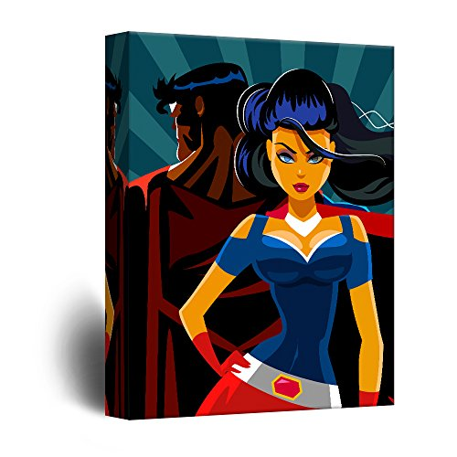Superheros Pop Art Comic Book Style Illustration
