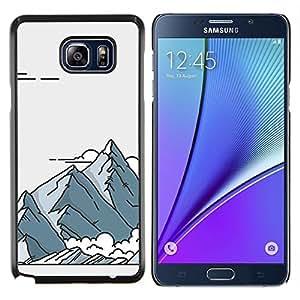YiPhone /// Prima de resorte delgada de la cubierta del caso de Shell Armor - Dibujo del arte del cartel Retro - Samsung Galaxy Note 5 5th N9200