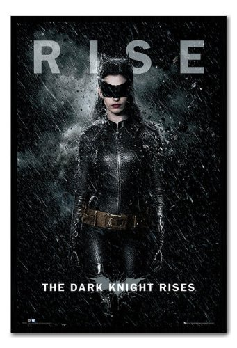 Iposters Dark Knight Catwomen Rises Poster Black Framed - 96.5 X 66 Cms (approx 38 X 26 Inches)