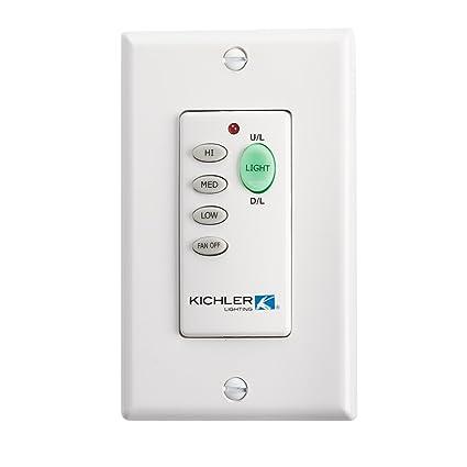 Kichler Lighting 370039MULTR Basic Ceiling Fan Wall Transmitter