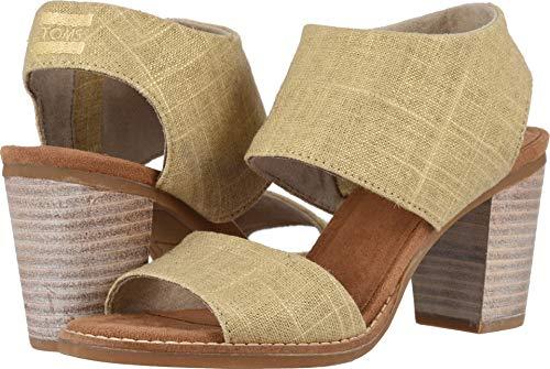 TOMS Women's Majorca Cutout Sandal Champagne Metallic Foil Woven 5 B US (Woven High Heel)