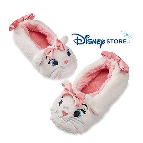 Cat Burglar Costume Accessories (Disney Kids Marie - The Aristocats Plush Slippers (9/10 M US Toddler))