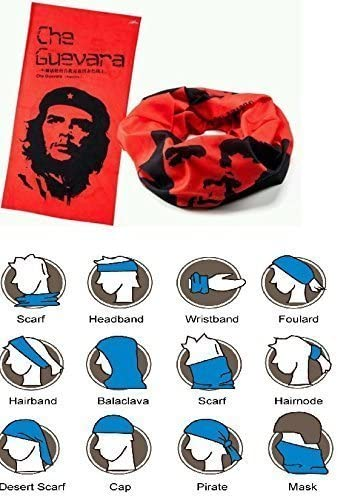 Che Guevara Tubu multifunción Pañuelo Bufanda máscara de bicicleta: Amazon.es: Deportes y aire libre