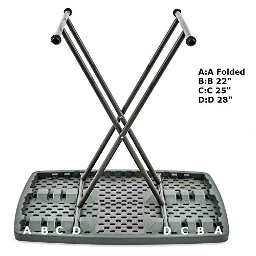 Iceberg 65491 Indestructible Too 1200 Series Resin Personal Folding Table 30 x 20 Charcoal by Iceberg (Image #2)
