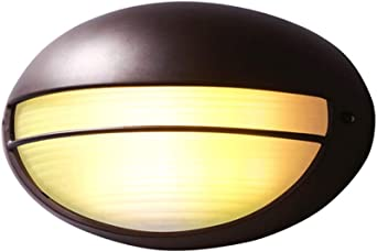 DEPAOSHJ Focos para jardín Cafetería Pared Luz LED Lámpara de pared Oval Creativa Luz de pared