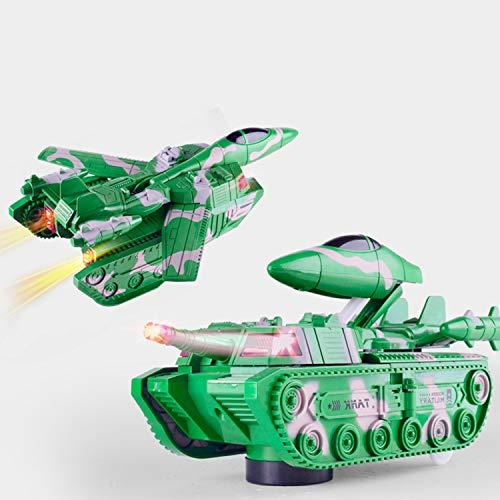戦車 戦闘機に変身することができます 自動変換 自由な変換 おもちゃの車 非常にクールなデザイン (グリーン)