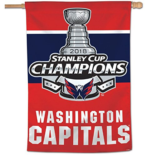WinCraft Washington Capitals Stanley Cup 2018 Champions House Flag