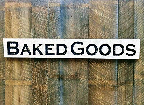 """Baked Goods carved sign 55""""x8"""" bakery kitchen"""