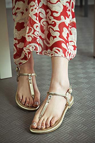 Boucle Vaneel Sandales Round valxrt Femme Or Chaussures 1 ToeCM qHR1XvxHw