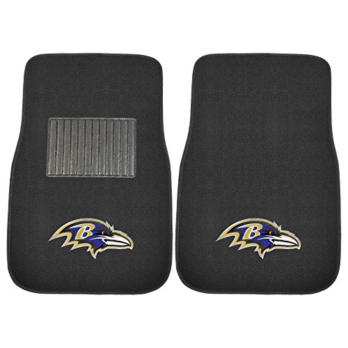 FANMATS 10336 NFL Baltimore Ravens 2-Piece Embroidered Car Mat
