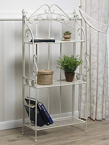 Libreria Etagere Celine Ferro Battuto Bianco Shabby Chic Amazon It
