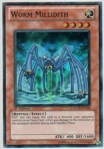 (Yu-Gi-Oh! - Worm Millidith (HA02-EN024) - Hidden Arsenal 2 - 1st Edition - Super Rare)