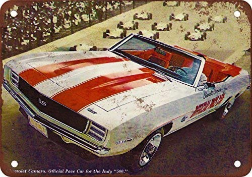 1969 Camaro Indy Pace Car Vintage Look Reproduction Metal Sign Warning Saftey Sign Pre-drilled Holes for Easy Mounting