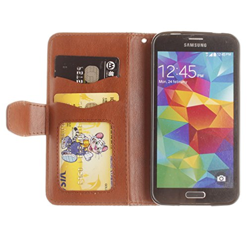 durable service Samsung Galaxy S7 Strap Wallet Case with Free Screen Protector,Funyye [Mandala Flower Pattern] Magnetic Closure with Card Slots Stand Feature Full Body Protection Case - Brown
