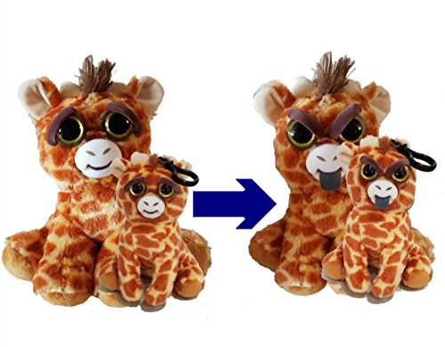 Price comparison product image Feisty Pets Ginormous Gracie the Mama Giraffe and her Baby Scrappy Savannah