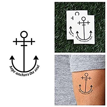 d750d31928ffc ... Anchors The Soul Temporary Tattoo - Buoyancy (Set of 2) - Other Styles  Available - Fashionable Temporary Tattoos - Long Lasting and Waterproof :  Beauty
